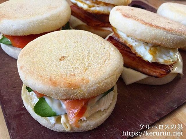 パスコの超熟イングリッシュマフィンでサンドイッチの弁当