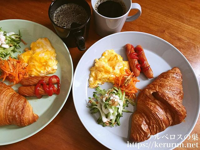 コストコのクロワッサンでワンプレート朝ごはん