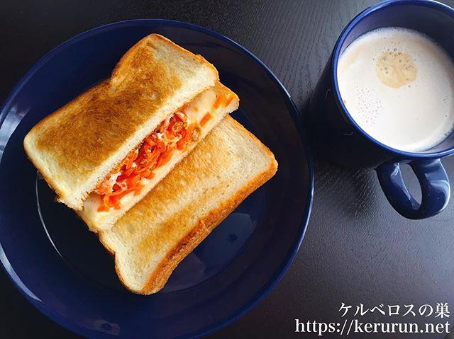 トーストサンドの朝ごはん