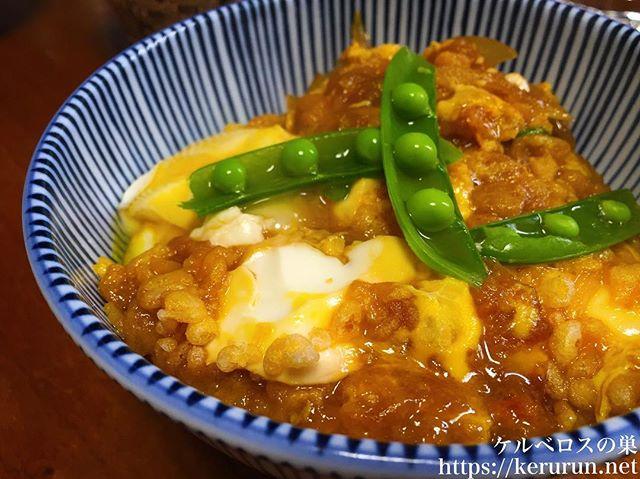 【ズボラ飯】豆腐と揚げ玉の玉子とじ丼のブランチ