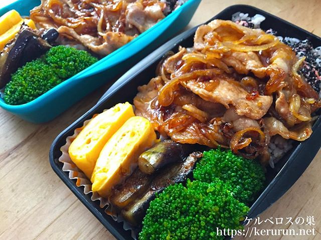 #弁当LOG 豚の生姜焼き弁当
