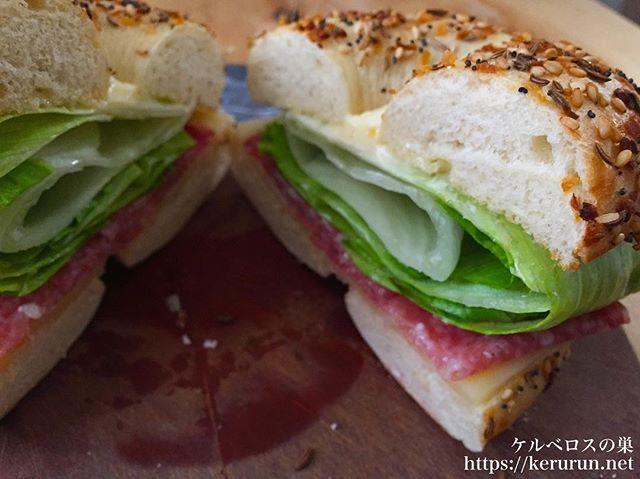 【コストコクッキング】エブリシングベーグルのサンドイッチ