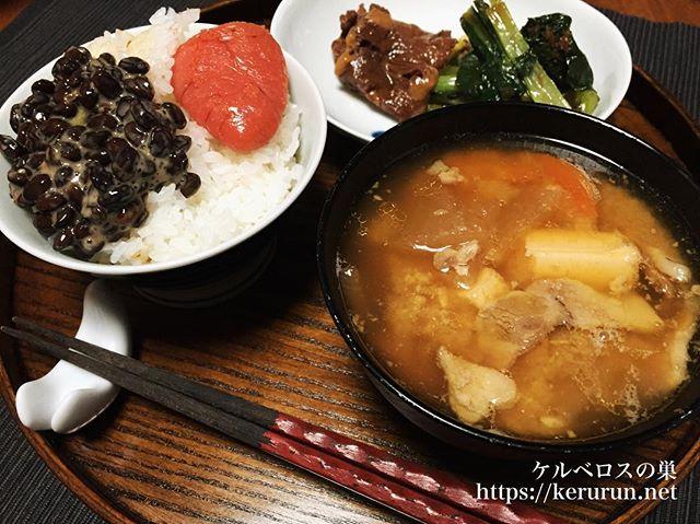 【一汁一菜】二日目の豚汁&鯨大和煮