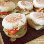 オーセンティックのイングリッシュマフィンで作るサンドイッチ弁当