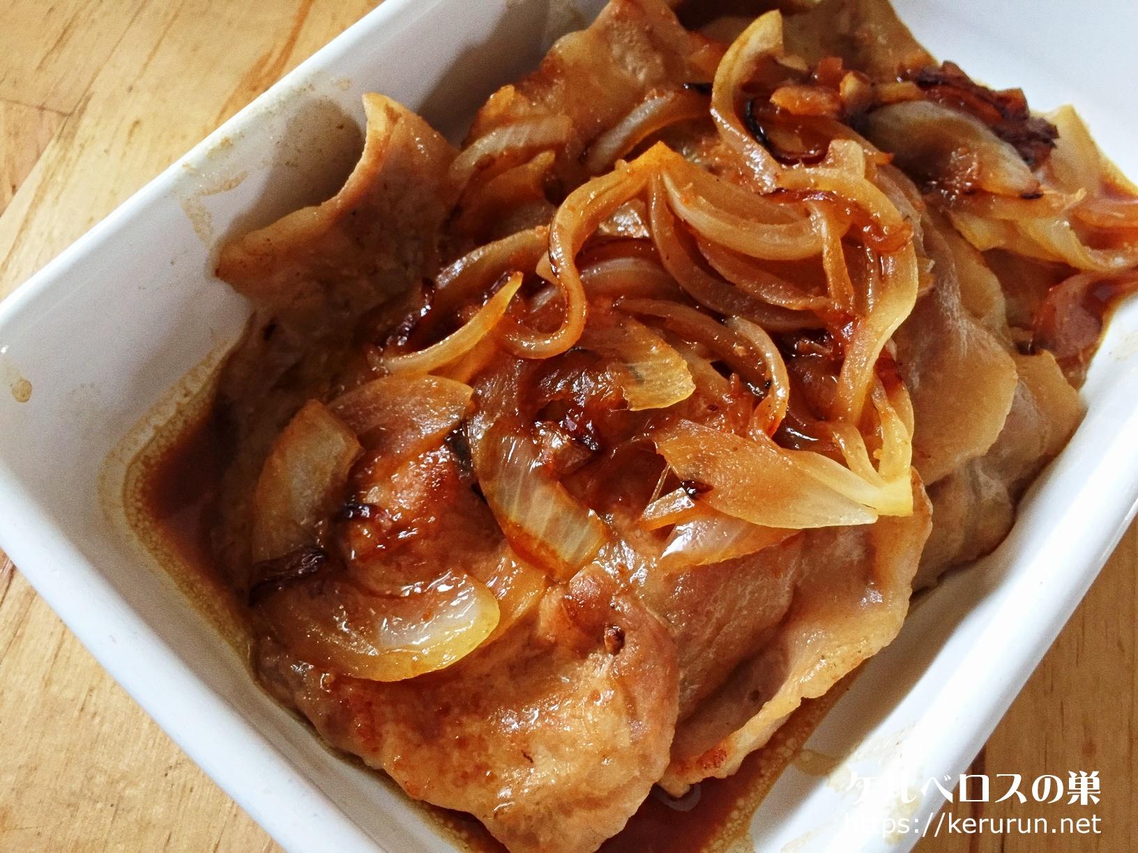 キッコーゴの焼肉のタレで作る豚焼肉弁当