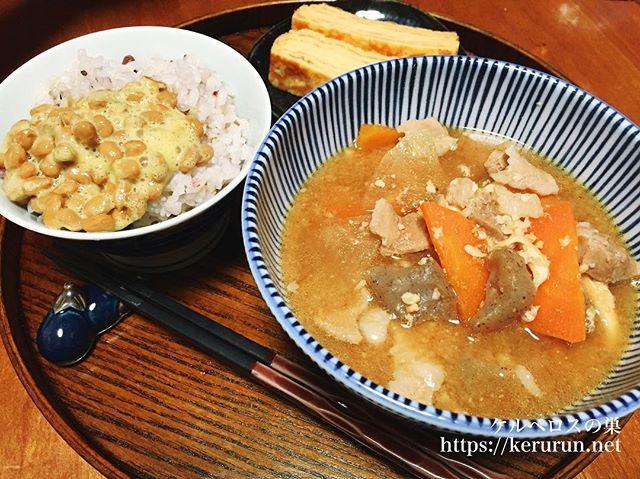 【一汁一菜】豚汁&玉幸の卵焼き
