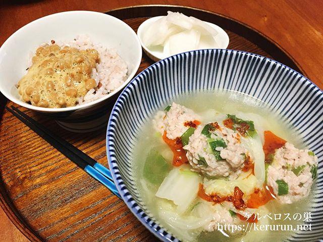 【一汁一菜】白菜と鶏団子の具沢山スープ&三浦大根の浅漬け