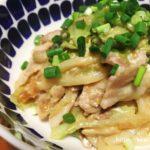 【レシピあり・ズボラ飯】フライパンひとつでできるキャベツと豚肉のたまごうどん