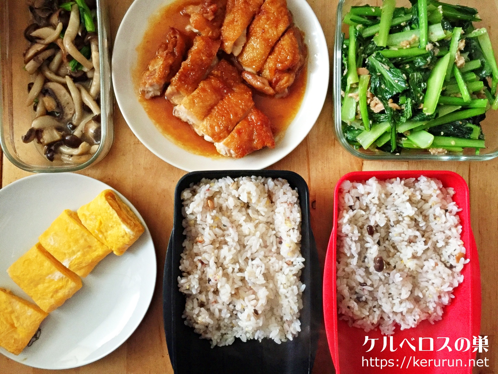 さくらどりで作る鶏もも肉の照り焼き弁当