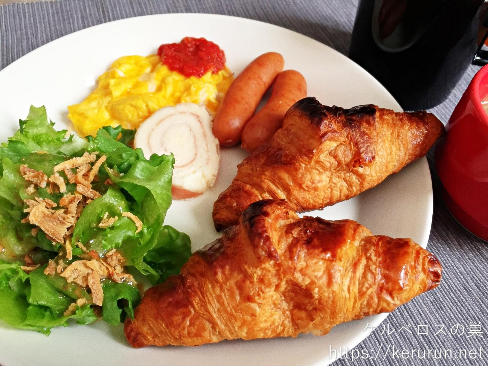 コストコ食材で休日の朝ごはん