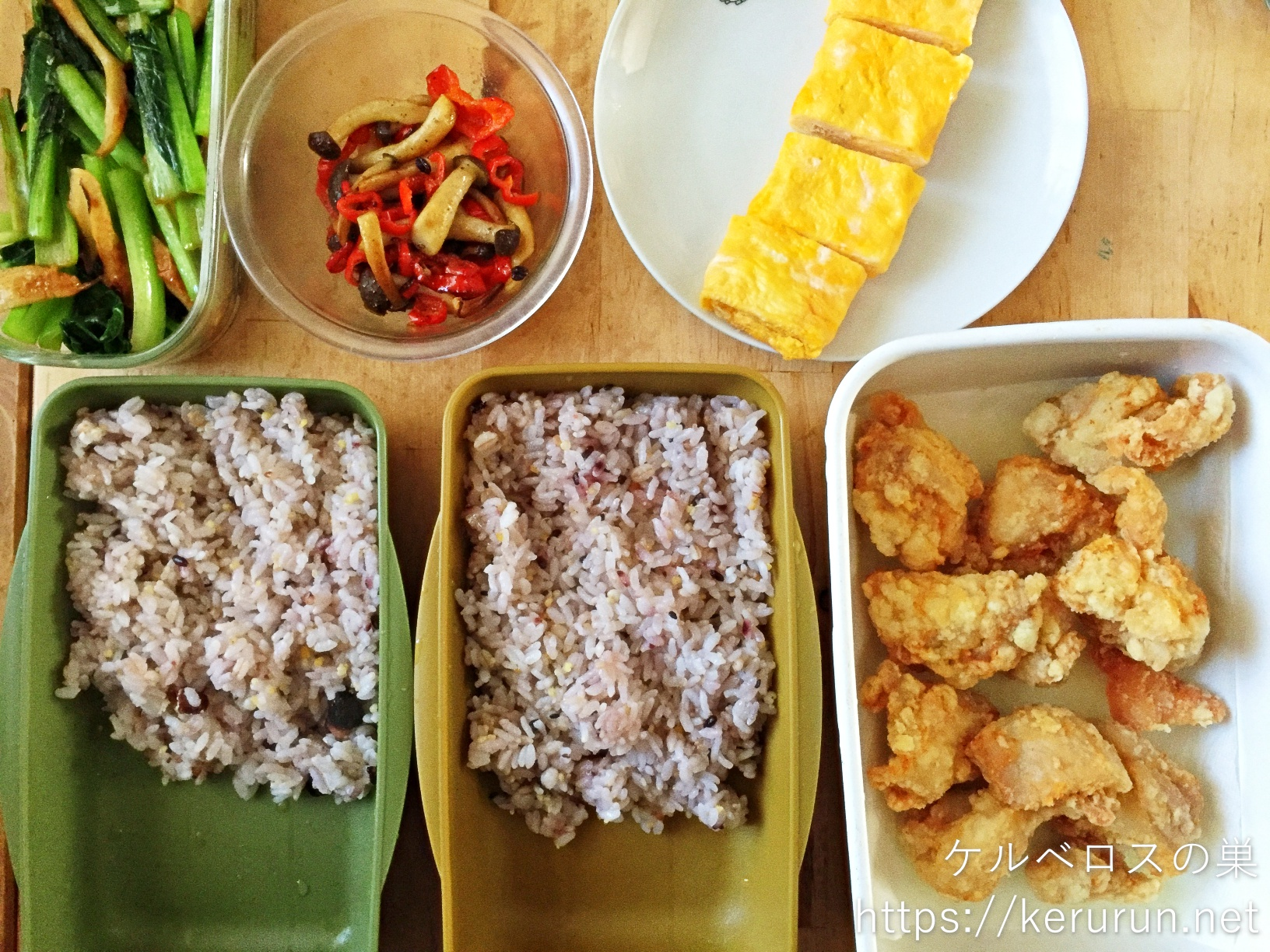 コストコのさくらどりもも肉で作る塩唐揚げのお弁当