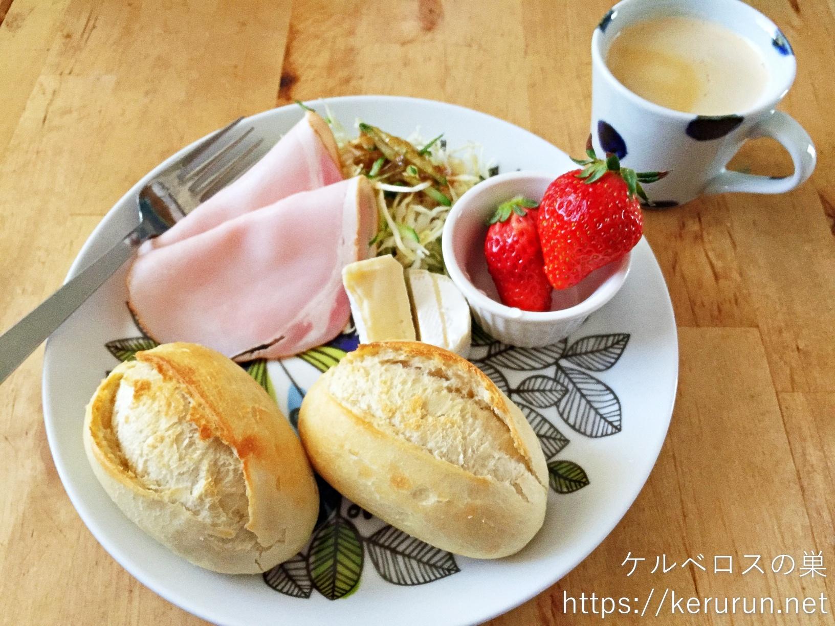 メニセーズのミニパンで朝ごはん