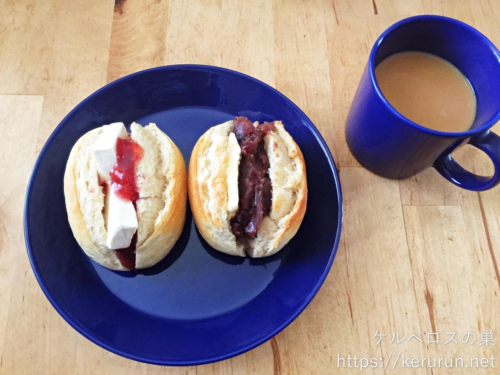 メニセーズのミニパンで作るサンドイッチで朝ごはん