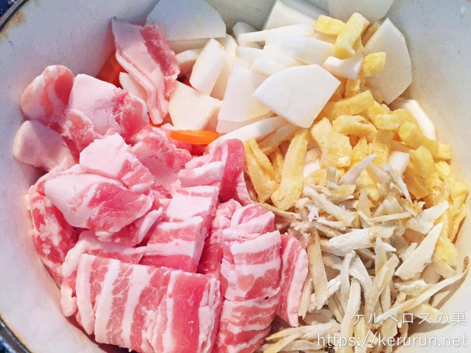 【一汁一菜】豚汁と塩鮭の晩ごはん