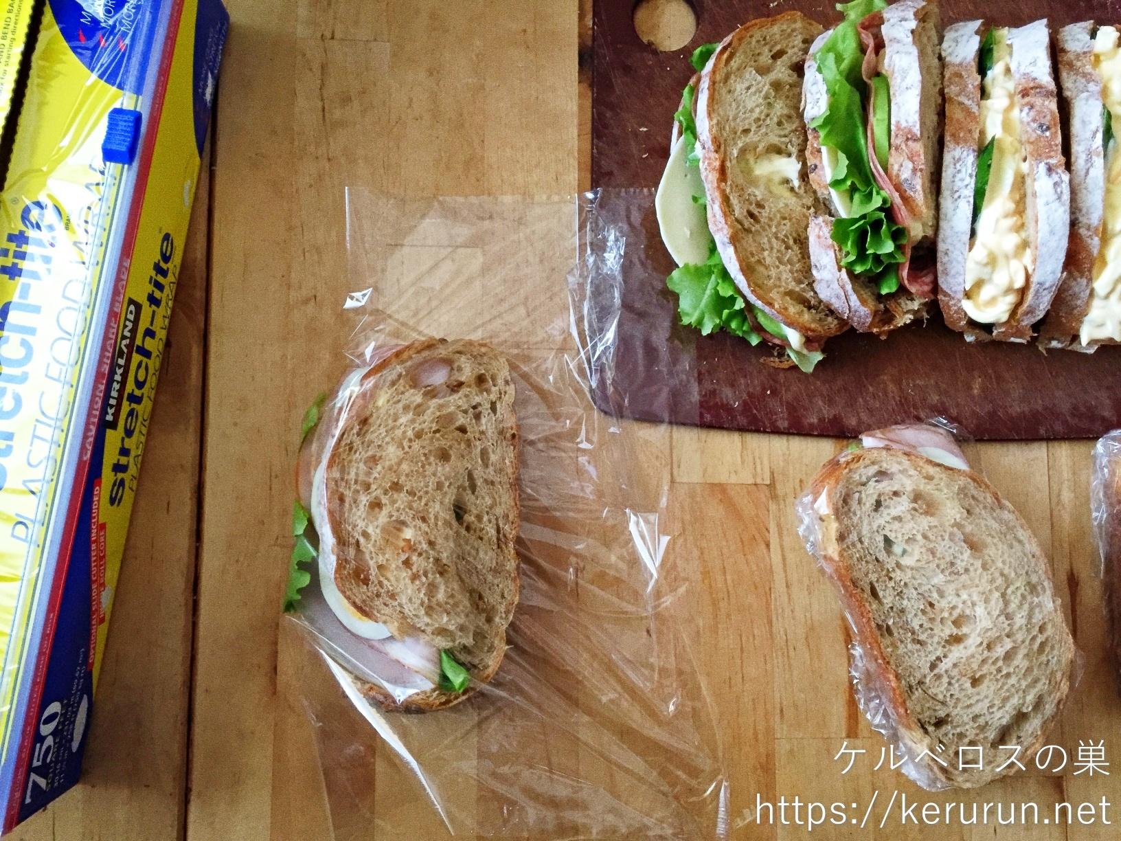 コストコのカントリーフレンチライで作るサンドイッチ弁当