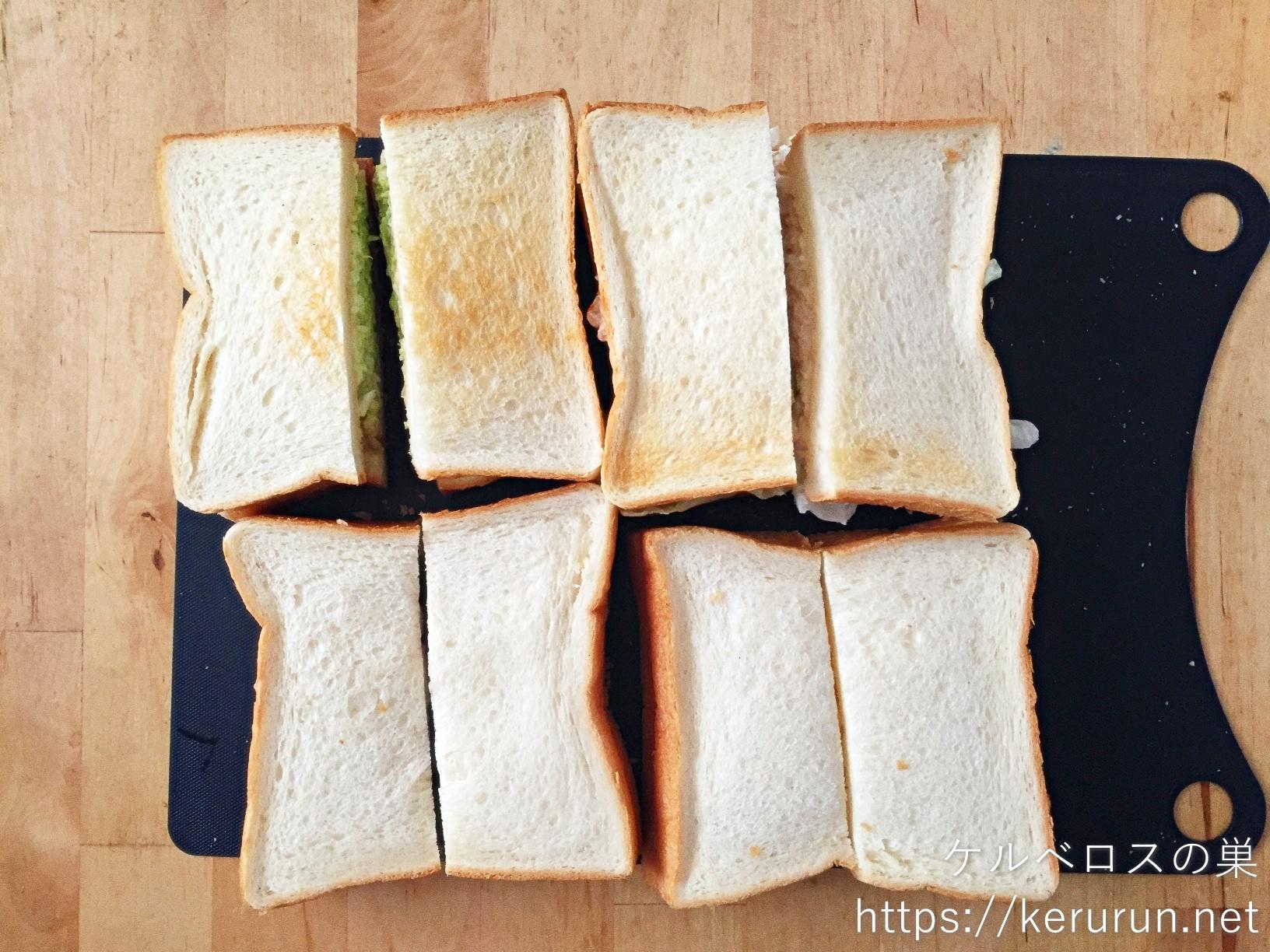 トーストサンドのお弁当