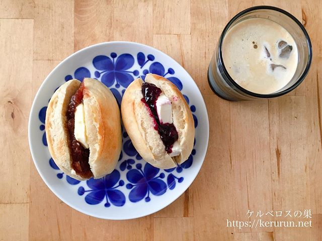 メニセーズのミニパンで甘いサンドイッチの朝ごはん