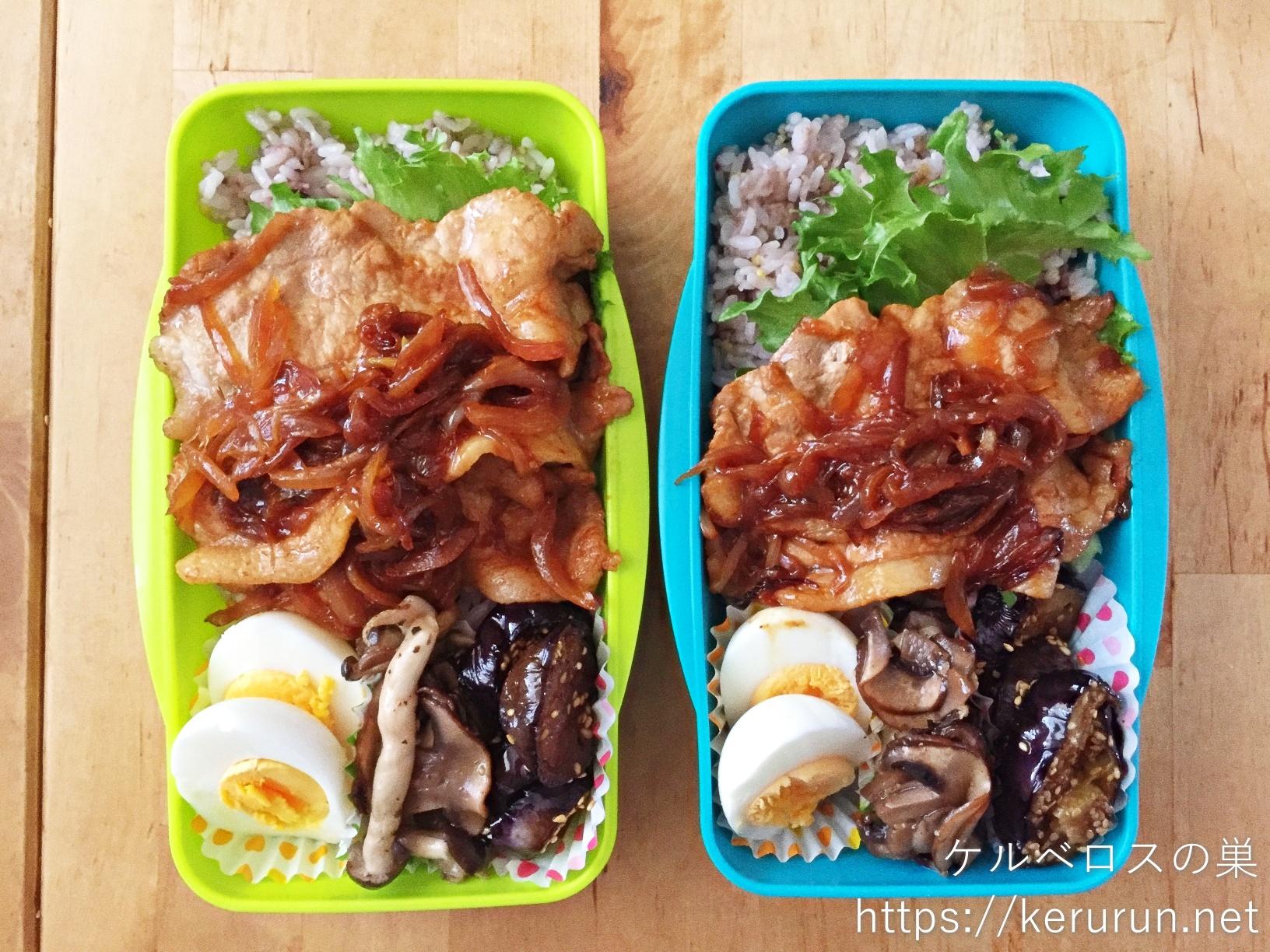コストコの豚ロースで作る生姜焼き弁当