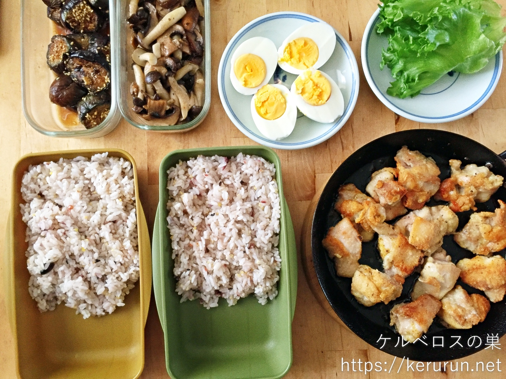 さくらどりで作る鶏もも肉のグリル弁当