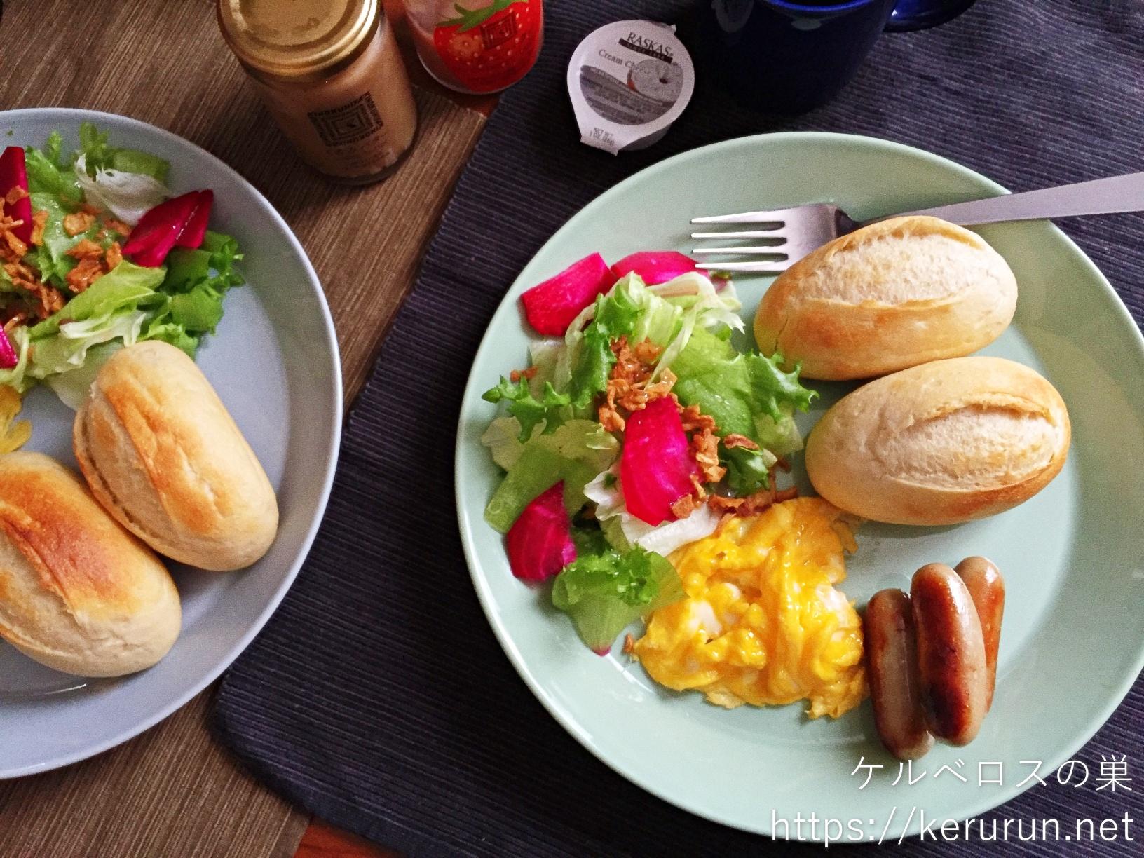 メニセーズのミニパンでワンプレート朝ごはん