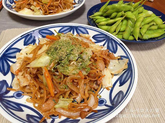 マルモ食品の富士宮やきそばでお昼ごはん