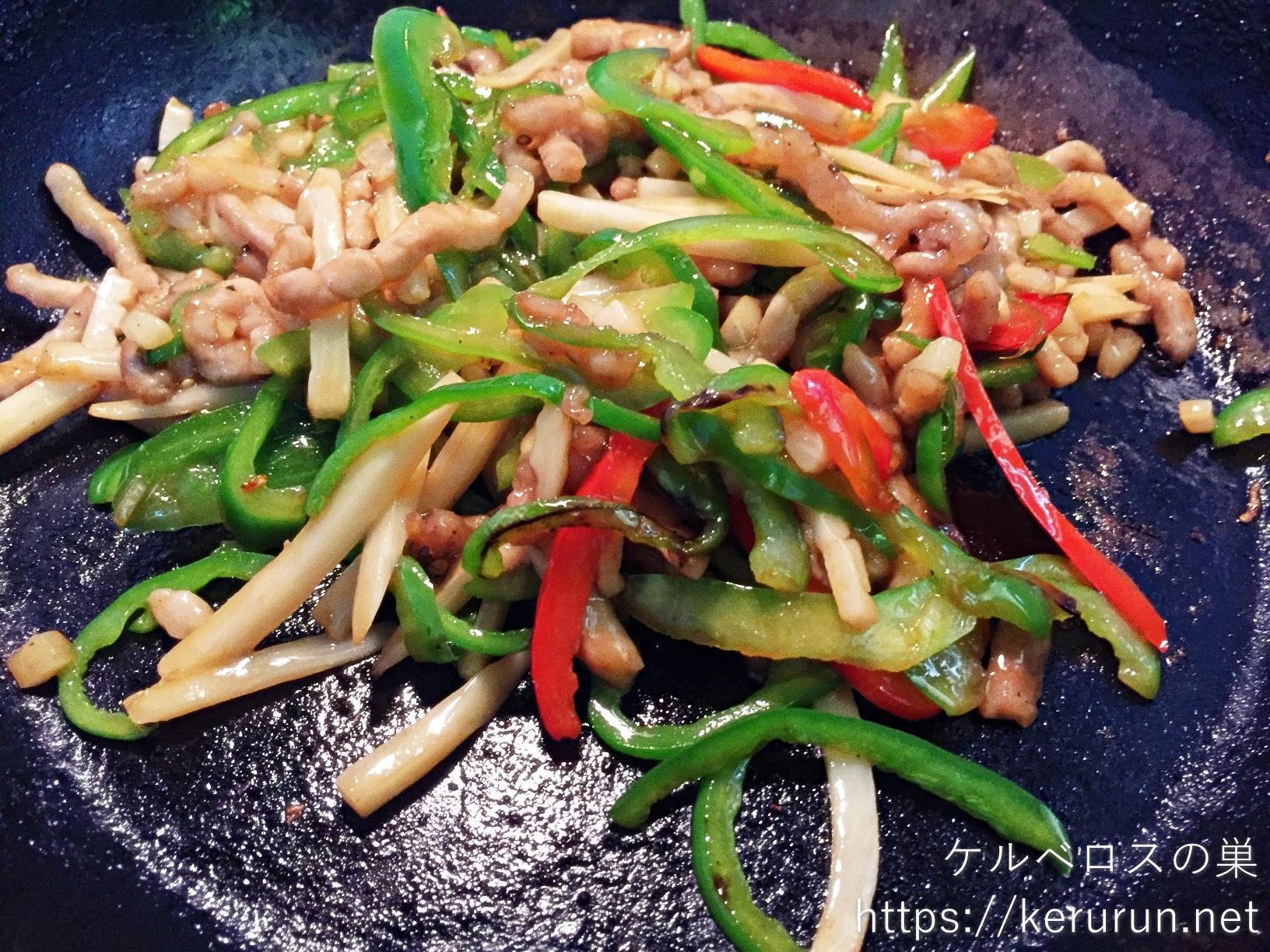 パルシステムのお料理セット「青椒肉絲」で晩ごはん