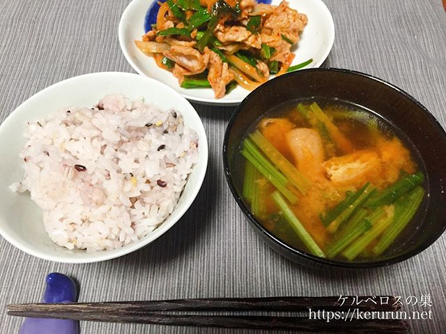 パルシステムのお料理セット「産直豚肉のキムチ炒め」で一汁一菜の晩ごはん
