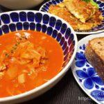 【Kit Oisix】「日高シェフ特製野菜ミネストローネ」と「トマトときのこのフリッタータ」で晩ごはん