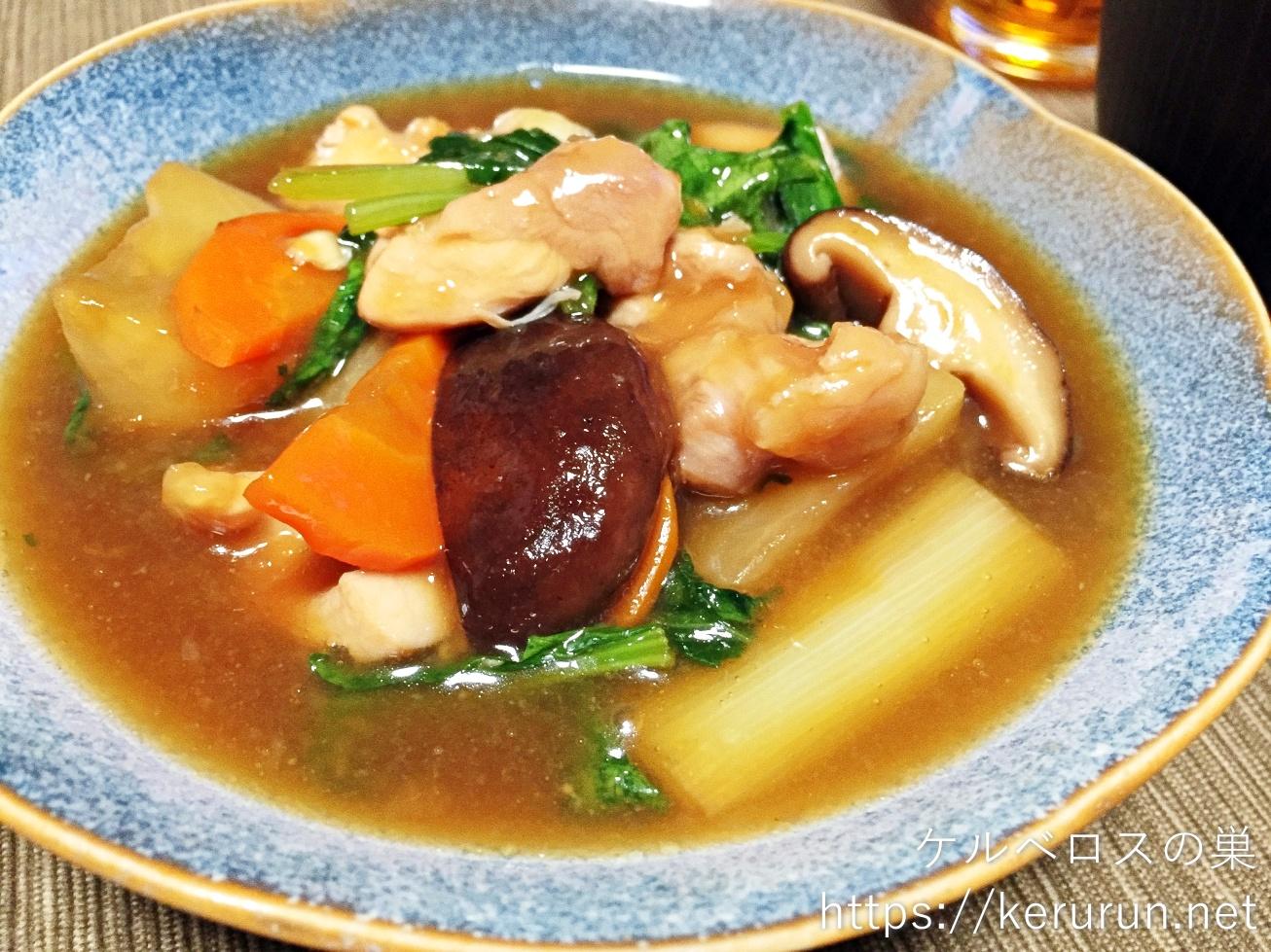 パルシステムのお料理セット「産直鶏肉と野菜の治部煮風」で一汁一菜の晩ごはん