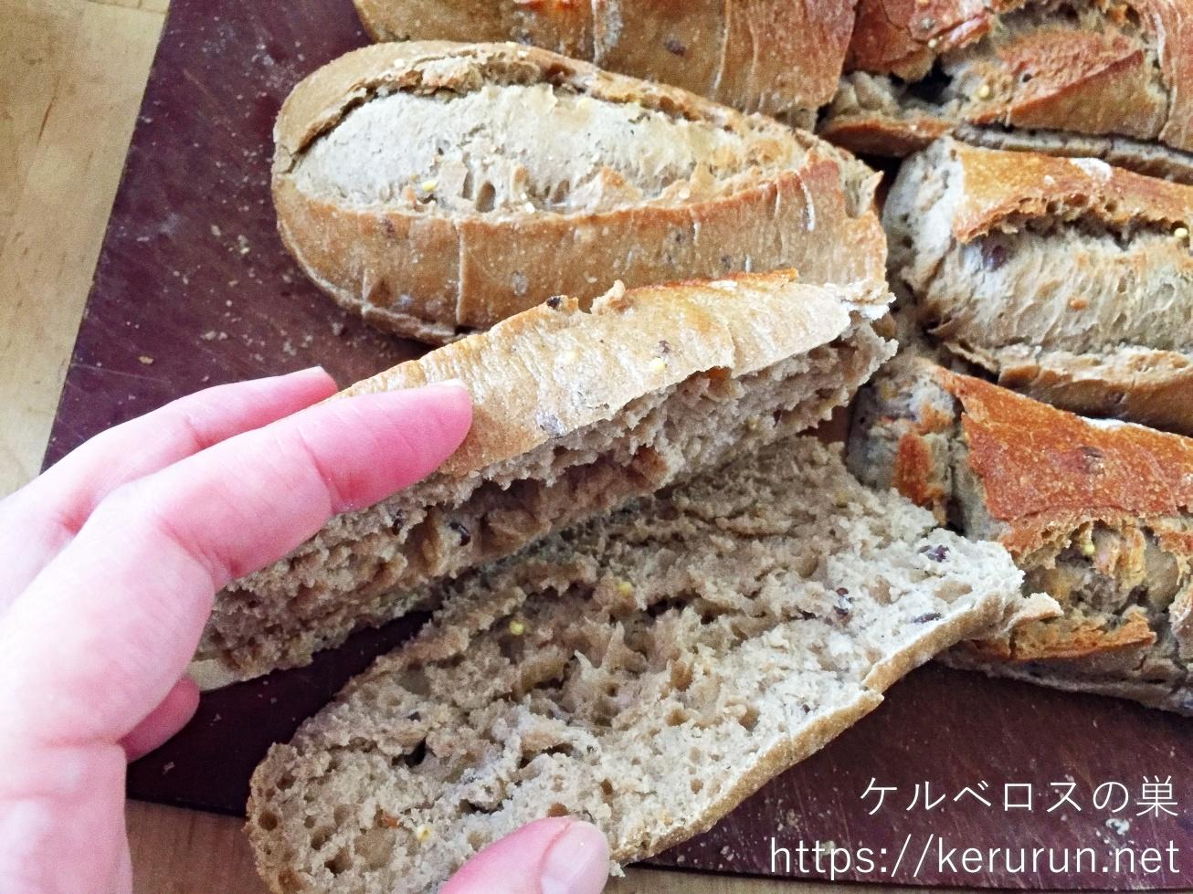 メニセーズのマルチグレインバゲットで作るサンドイッチ弁当