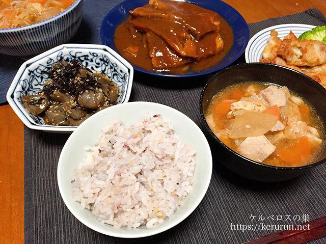 コストコで買った米久の豚肉の味噌煮で晩ごはん