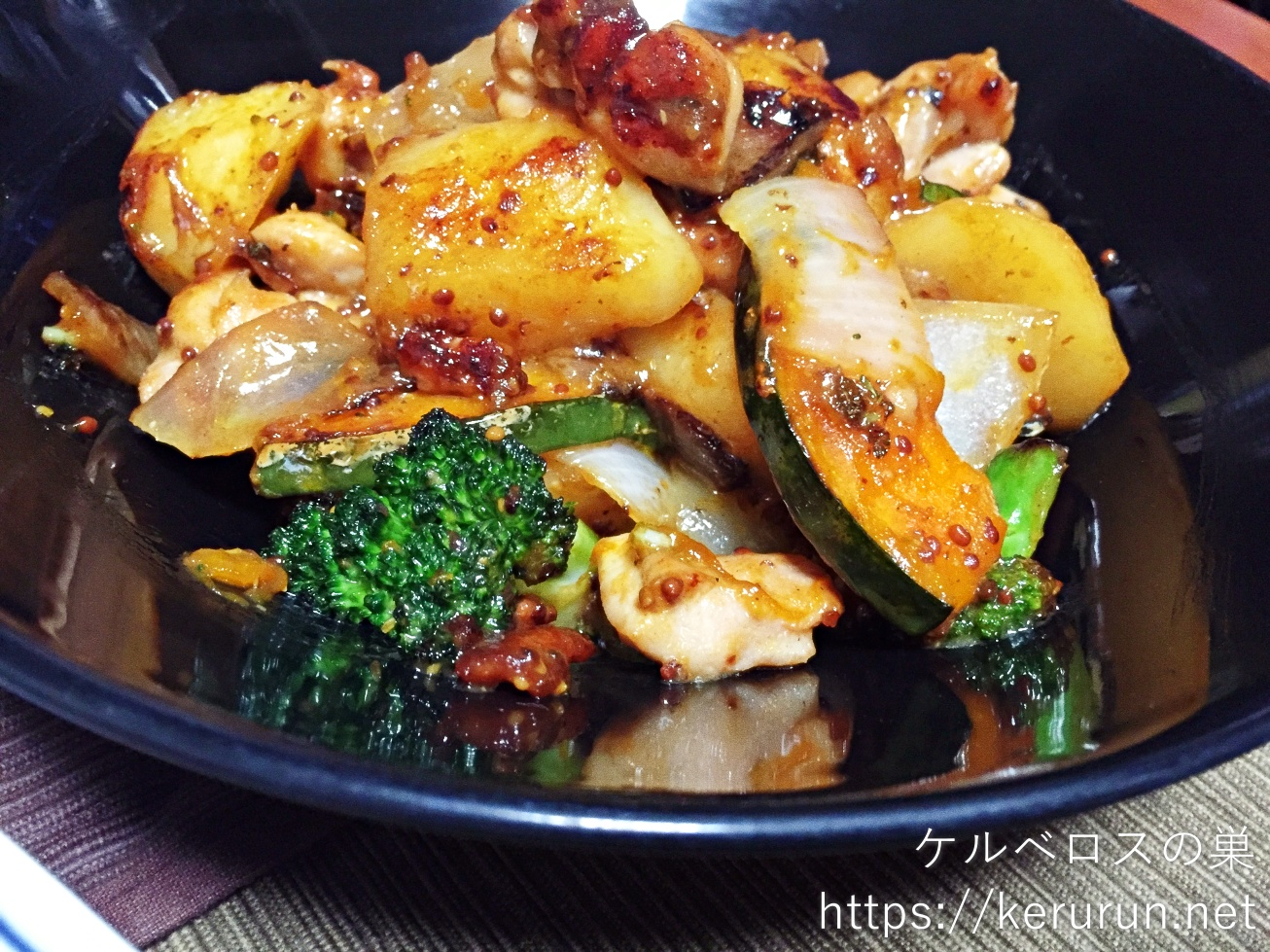パルシステムのお料理セット「産直鶏肉の粒マスタード炒め」で晩ごはん
